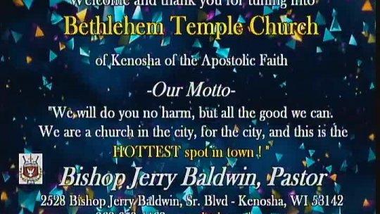 Sunday Morning Worship Service - Bishop Jerry Baldwin, Pastor -