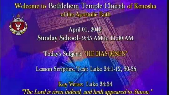 Sunday Morning Service (Resurrection Sunday) - Bishop Jerry Baldwin, Pastor -