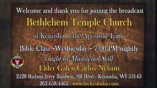 Bible Class -  Elder Galen Carlos Nelson -