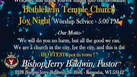 Joy Night Praise and Worship Service (Last Joy-Night of the Year); Subject: