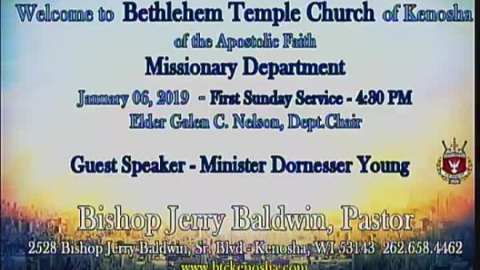 Missionary Service with Home Minister Dornesser Young; Subject:
