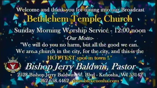 Sunday Morning Worship Service with Bishop Jerry Baldwin, Jr., Pastor - Feb 2, 2020 03:19 PM
