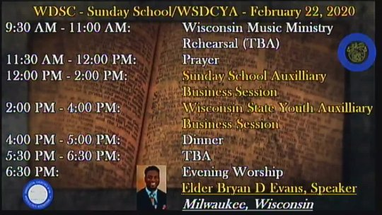 WSDC Winter Session 2/2020 - 2/23 Evening Message - Elder Bryan David Evans