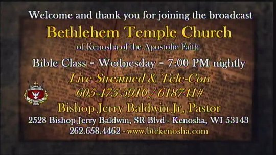 (eBIBLE) - Bible Class taught by Guest Minister Elder Gregory Michael Powell; Subject:
